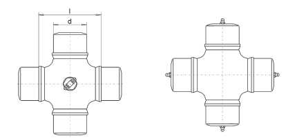 Universal joint cross assemblies